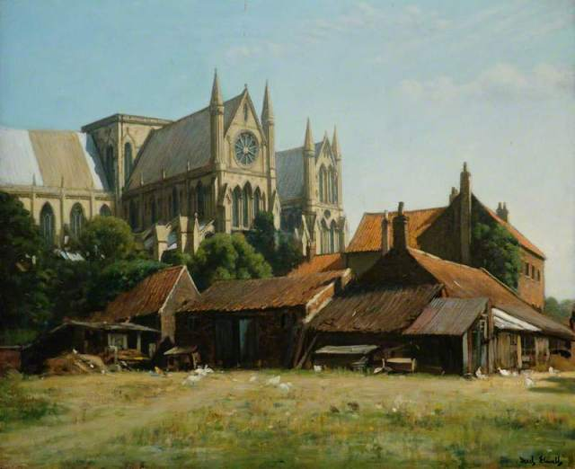 Beverley Minster from the Hall Garth by Fred Elwell (1900)