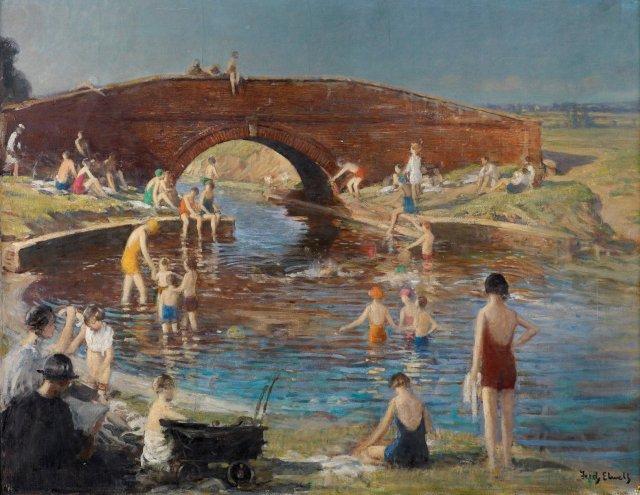 Brick Bridge, Swinemoor by Fred Elwell (c.1943)