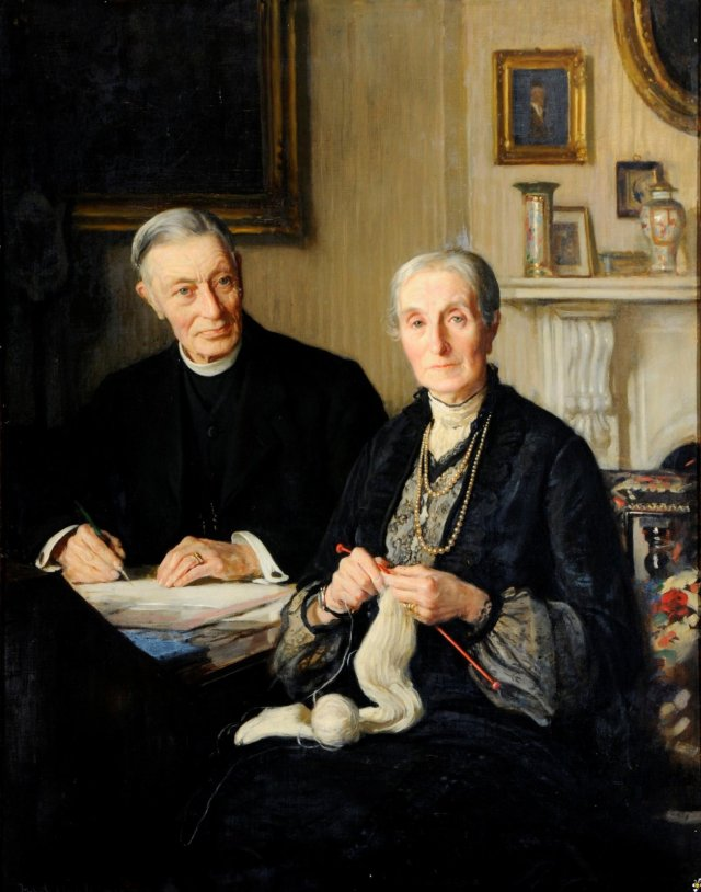 Canon Fisher and his Wife by Fred Elwell (1905)