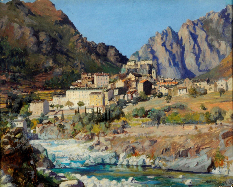 Corte Corsica by Mary Dawson Elwell Fred