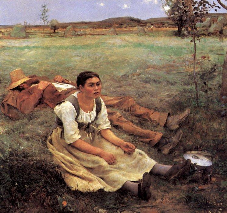 Les Foins by Jules Bastien-Lepage (1877)