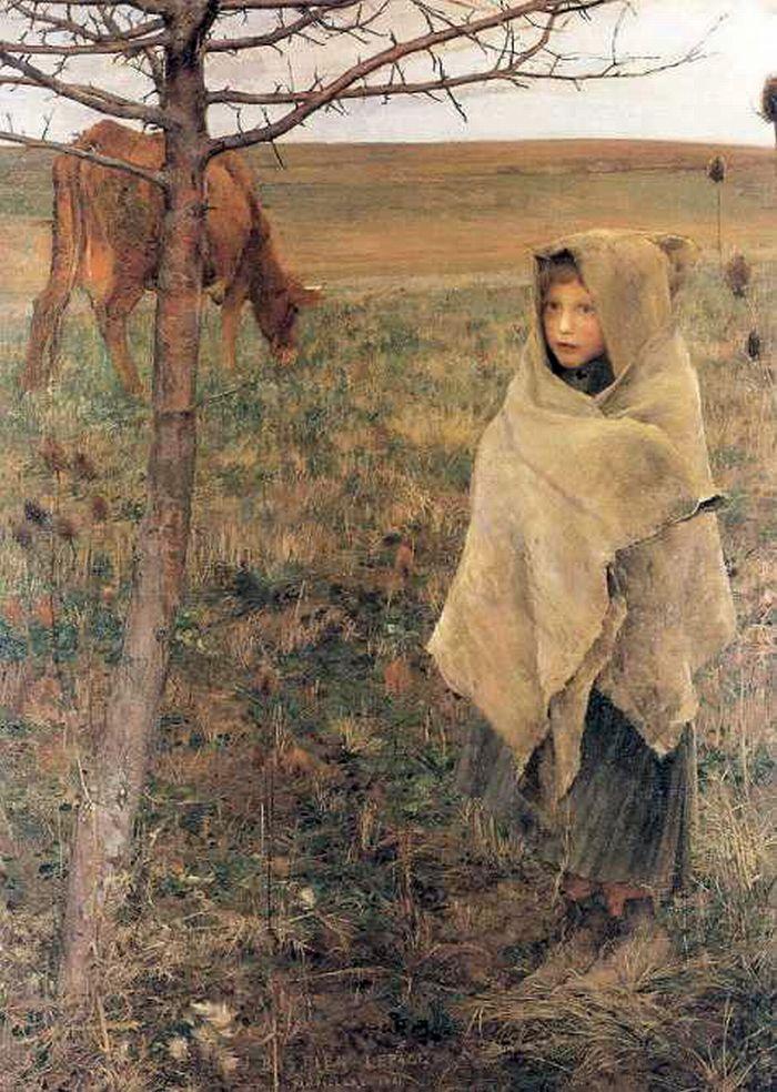 Pauvre Fauvette by Jules Bastien-Lepage (1881)