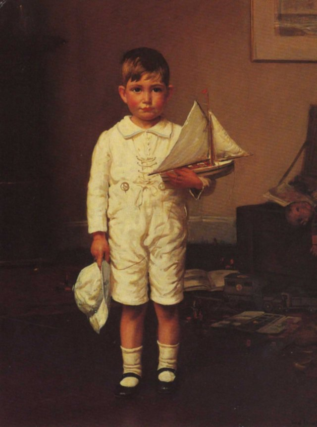 Portrait of a Small Boy by Fred Elwell (1917)