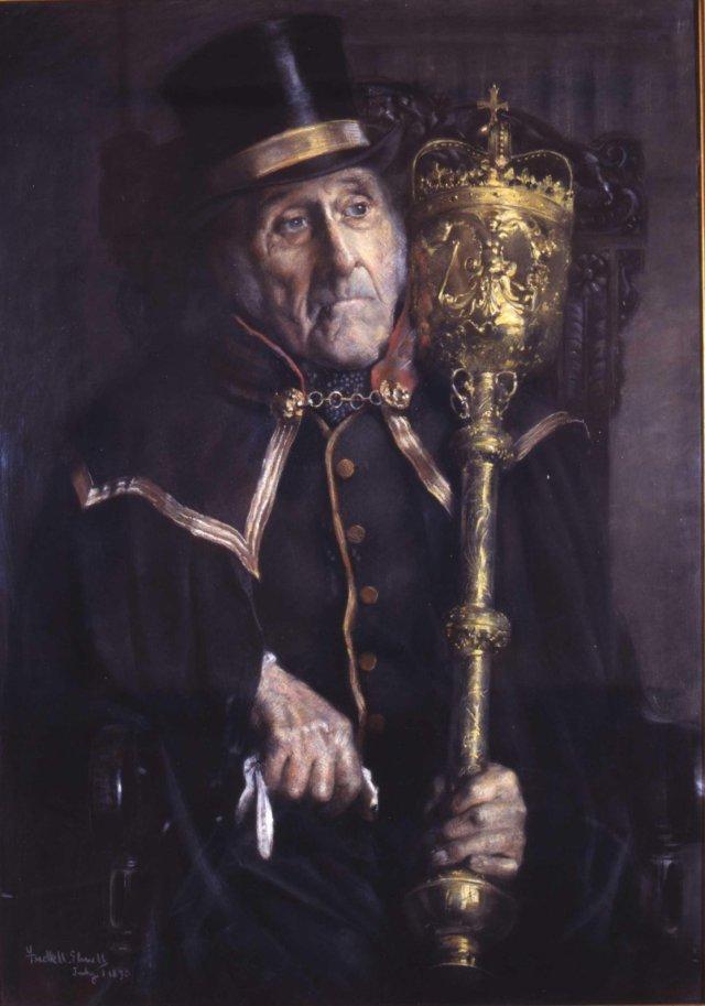 Portrait of George Monkman, Mace Bearer of Beverley by Fred Elwell (1890)