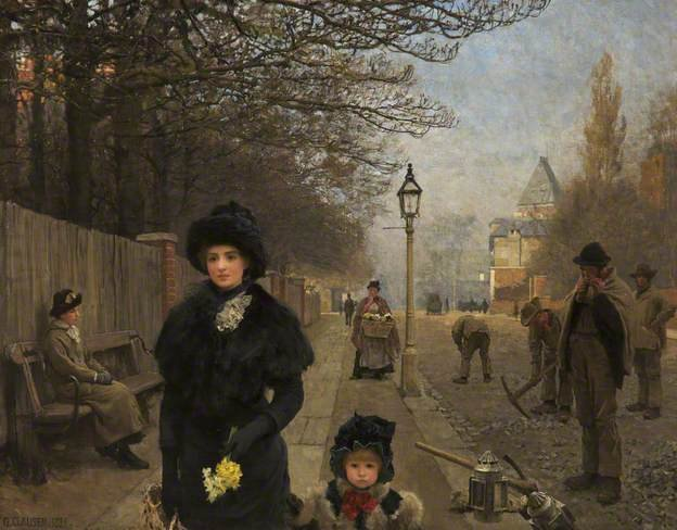 Spring Morning, Haverstock Hill by George Clausen (1881)