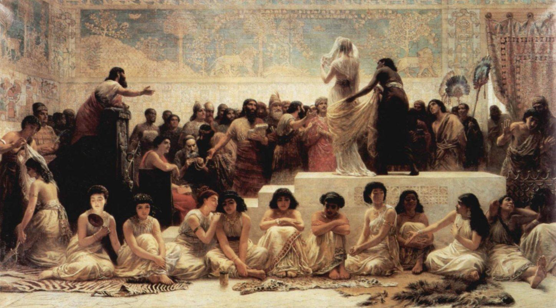 The Baylonian Marriage Market by Edwin Long (1875)