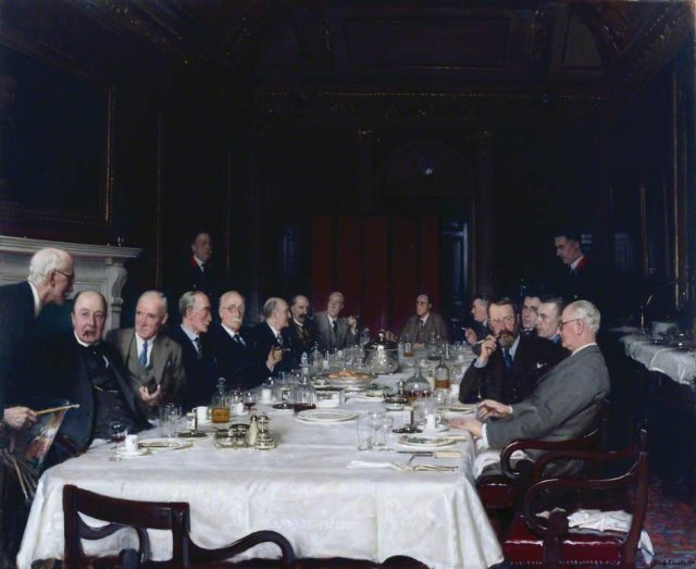 The Royal Academy Selection and Hanging Committee by Fred Elwell (1938)