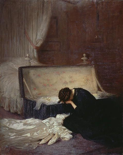 The Wedding Dress by Fred Elwell (1911)