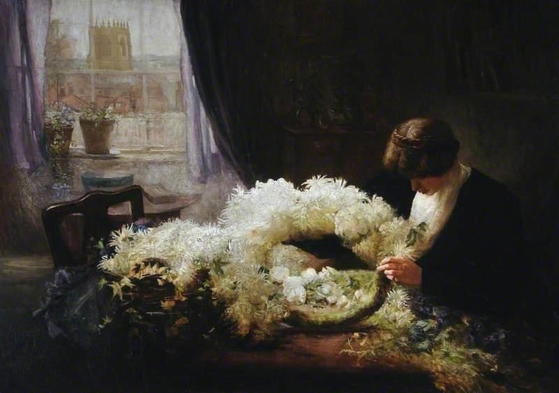 The Wreath by Mary Dawson Elwell (1908)