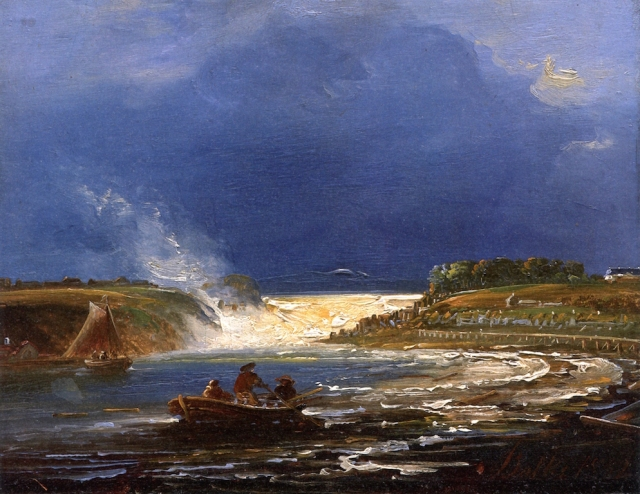 A View of the Sarpsfoss Waterfalls, Norway by Peder Balke (c.1859)