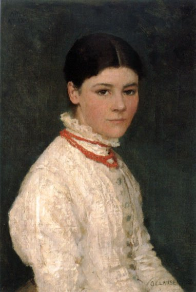 Agnes Mary Webster by George Clausen (1882)
