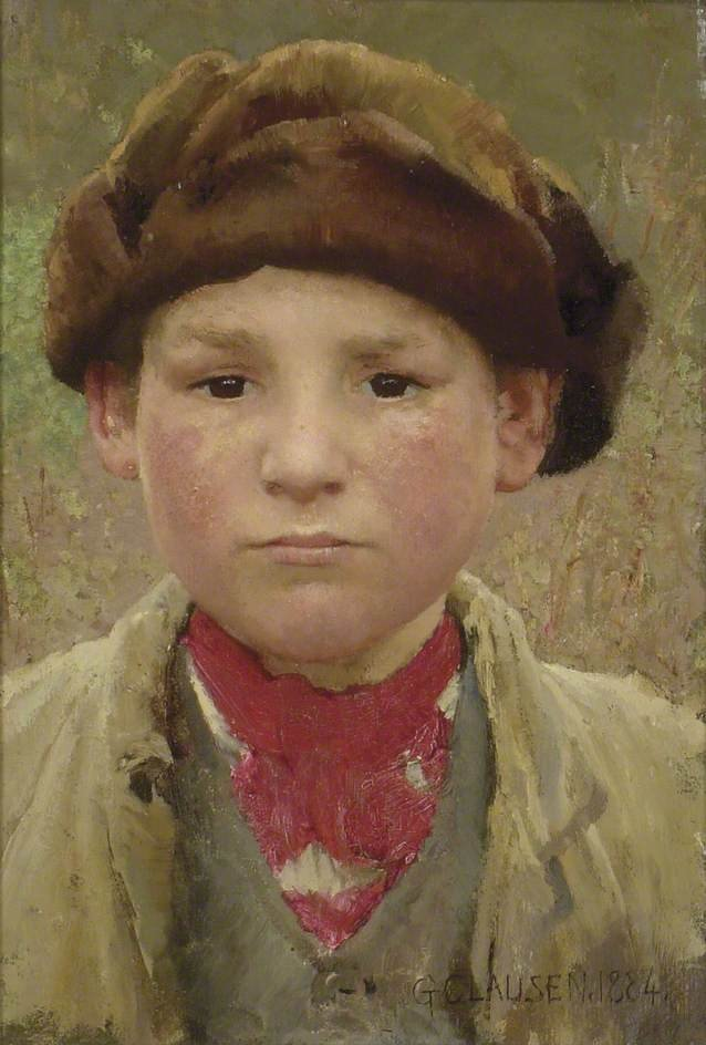 Head of a Peasant Boy by George Clausen (1884)