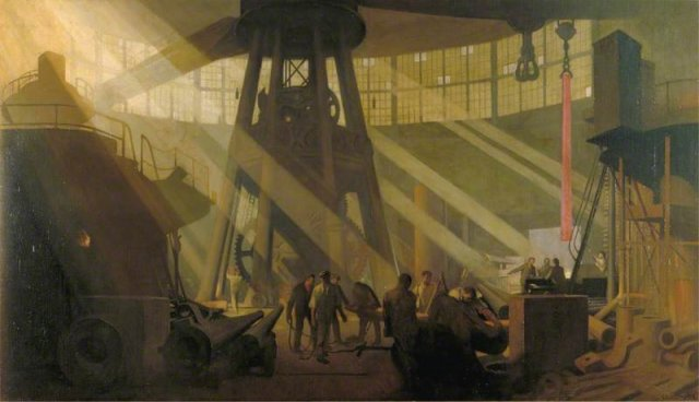 In the Gun Factory at Woolwich Arsenal, 1918 by George Clausen (1918)