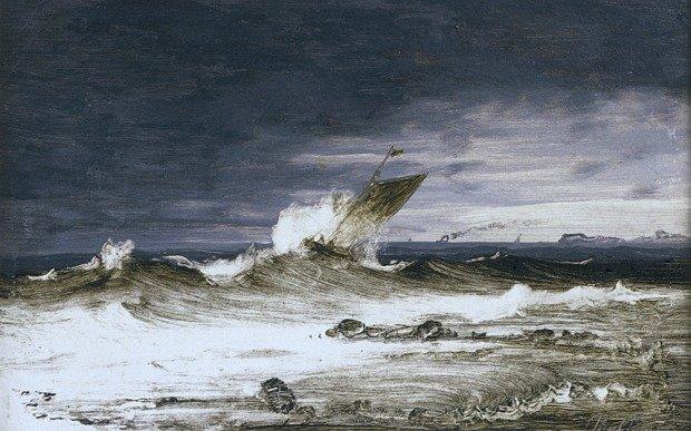 Seascape by Peder Balke (c.1860)