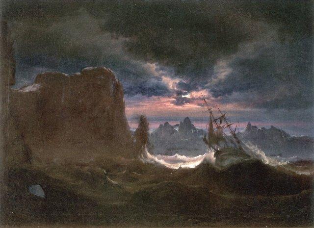 Ship in Breaking Waves by Peder Balke (c.1849)