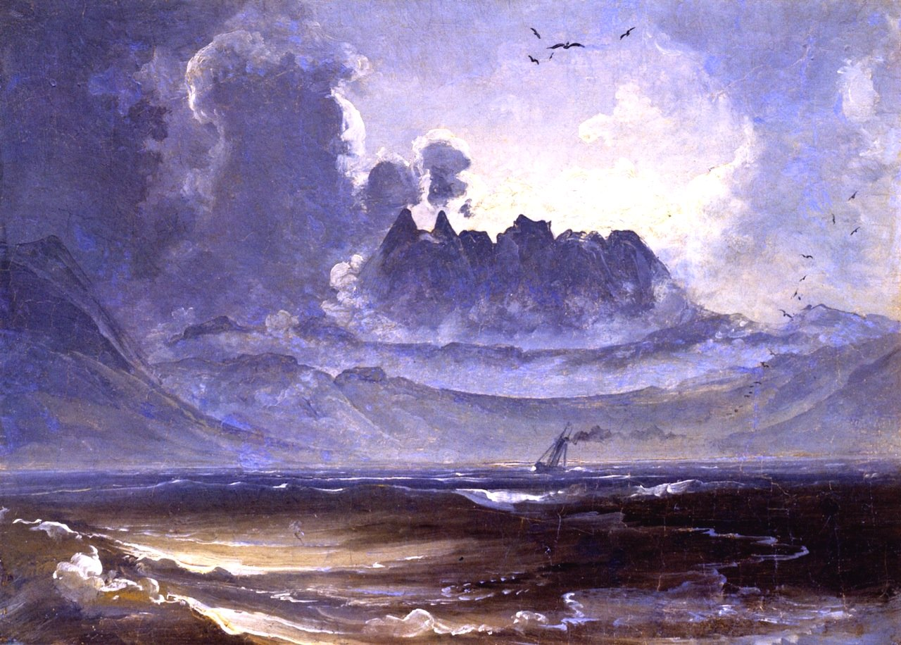 The Mountain Range 'Trolltindene' by Peder Balke (c.1845)