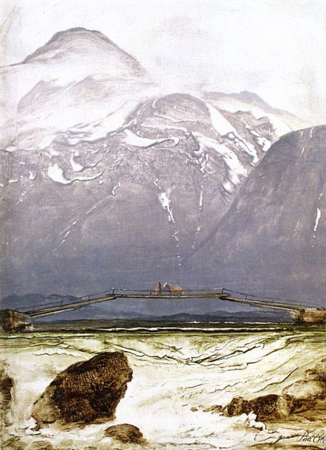The Old Bridge by Peder Balke (c.1869)