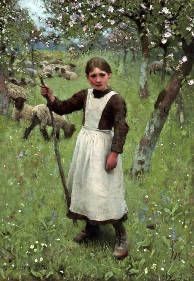 The Shepherdess by George Clausen (1885)
