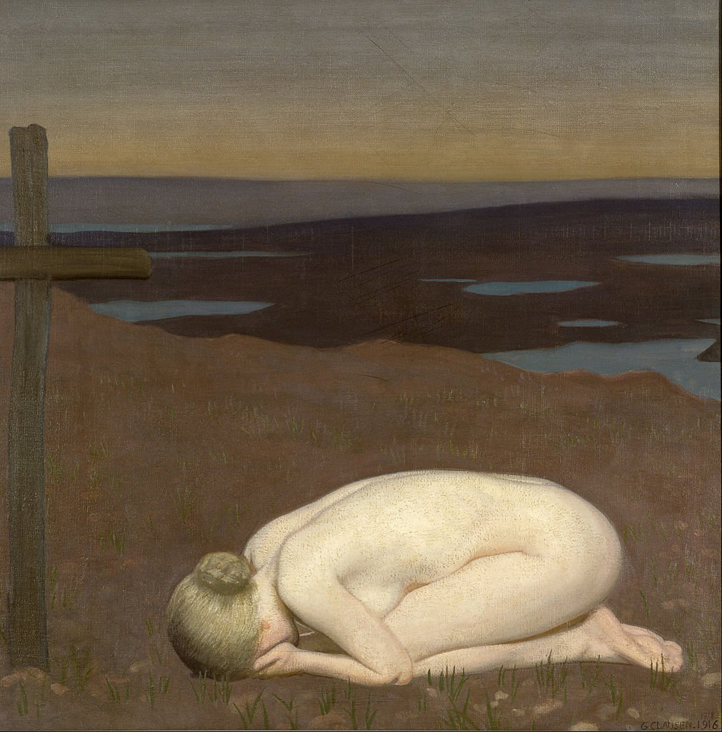 Youth Mourning by George Clausen (1916)