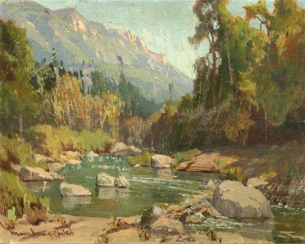 Brook in Sierra Landscape by Marion Kavanagh Wachtel