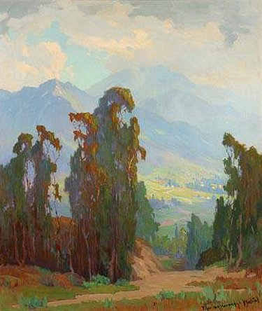 Foothill Eucalyptus Landscape by Marion Wachtel