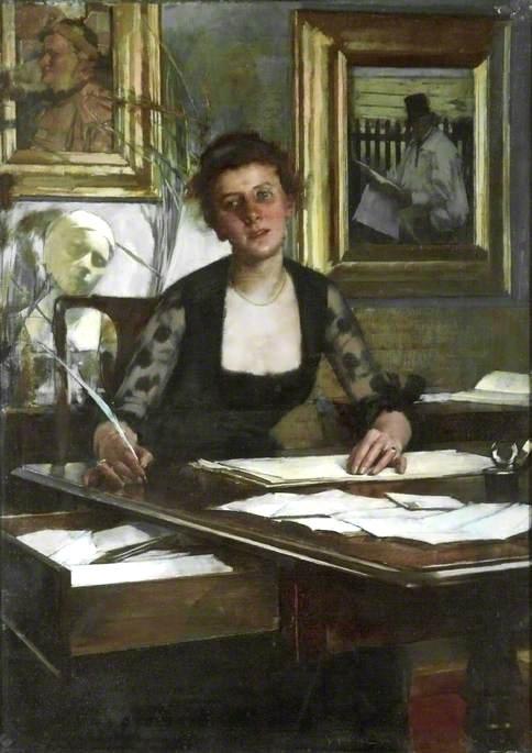 Portrait of the Artist's Wife by Henry Herbert La Thangue