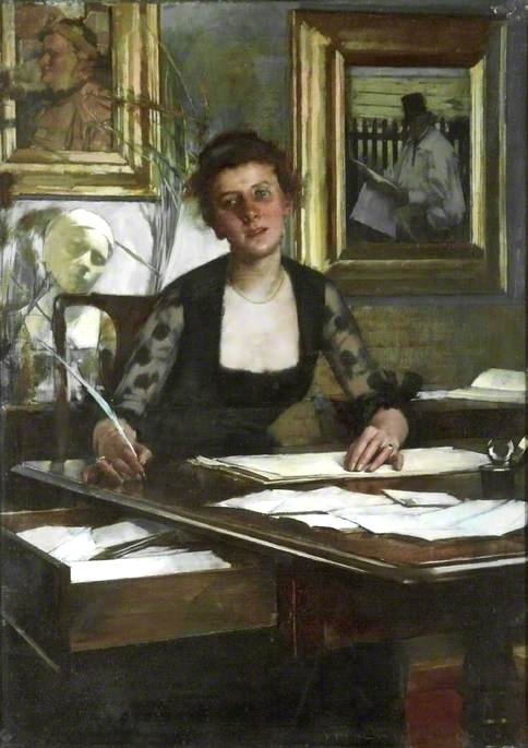 Portrait of the Artist's Wife by Henry Herbert La Thangue
