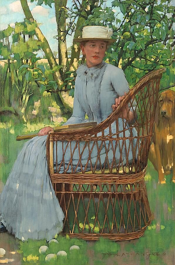 Resting after the game, Kate La Thangue by Henry Herbert La Thangue
