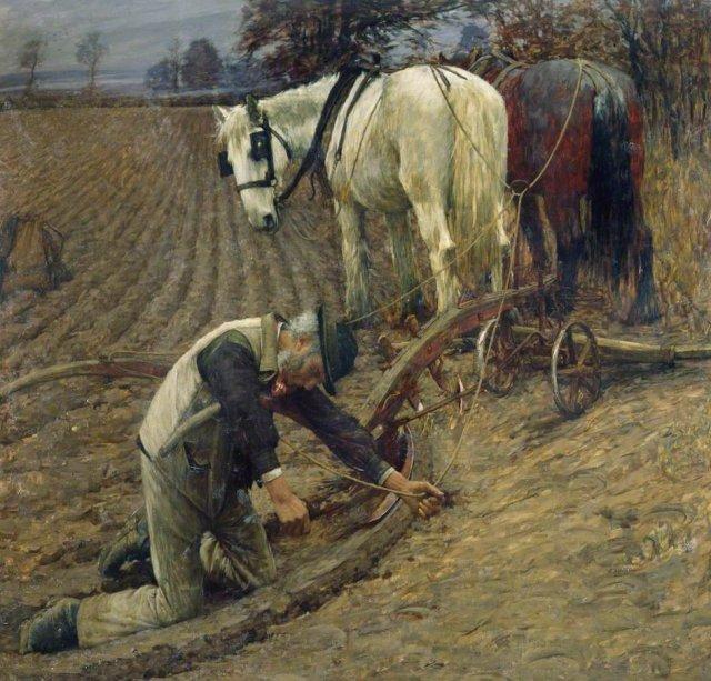 The Last Furrow by Henry Herbert La Thangue (1895)