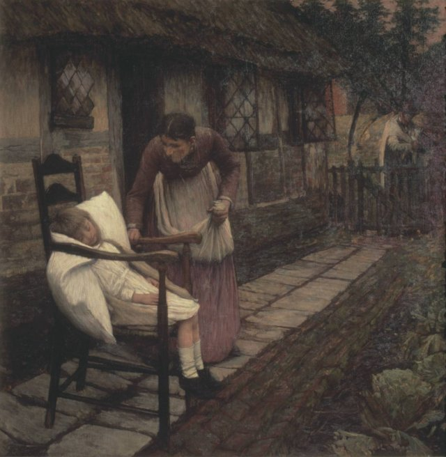 The Man with the Scythe by Henry Herbert La Thangue (1896)