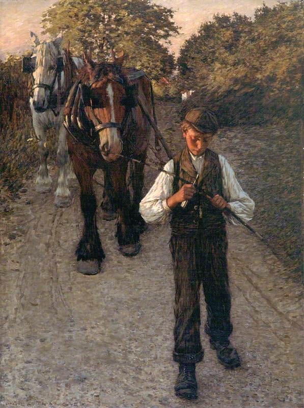 The Plough Boy by Henry Herbert La Thangue (c.1900)