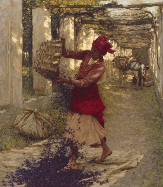Violets for Perfume by Henry Herbert La Thangue (ca. 1913)