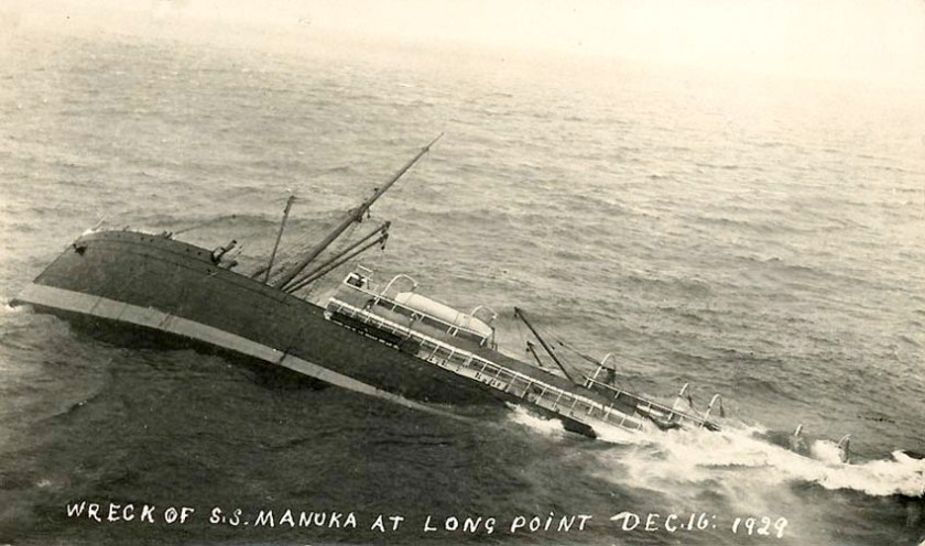 Wreck of the S.S. Manuka December 16th 1929