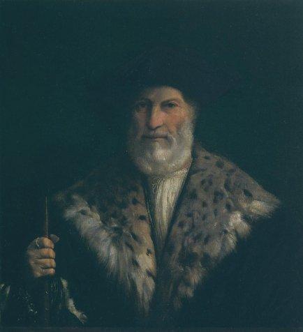 Portrait of a Man in a Fur Collar (Antonio Constabili) by Dosso Dossi (c.1520)