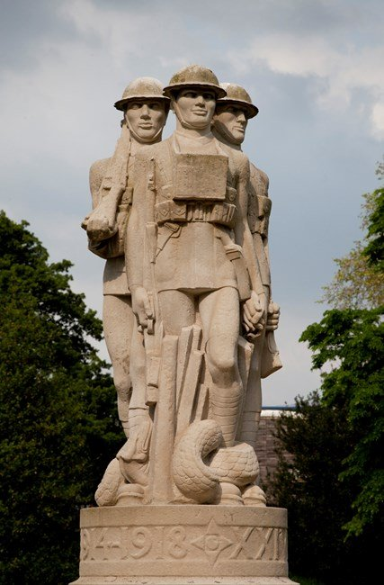 Battersea Park Memorial. by Eric Kennington