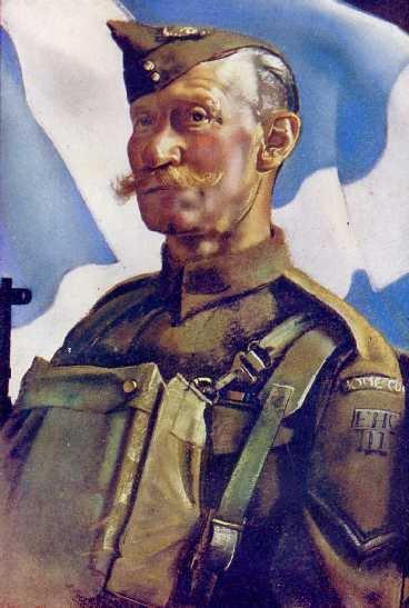 Corporal Robertson, City of Edinburgh Home Guard by Eric Kennington (1943)