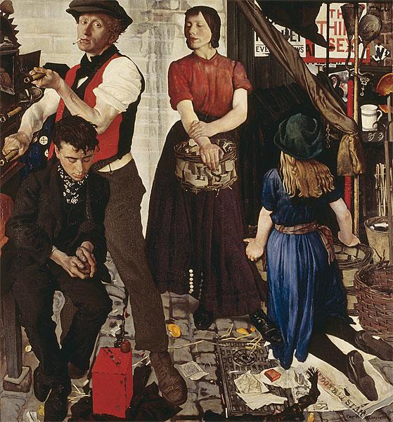 Costermongers (La Cuisine ambulante) by Eric Kennington (1914)