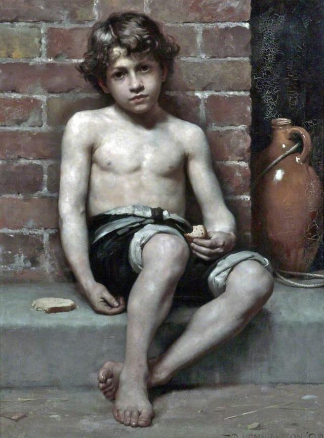 Daily Bread by Thomas Benjamin Kennington (1883)