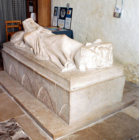 Effigy of T.E. Lawrence - 'Lawrence of Arabia' in St. Martin's Church, Dorset by eric Kennington (1926)