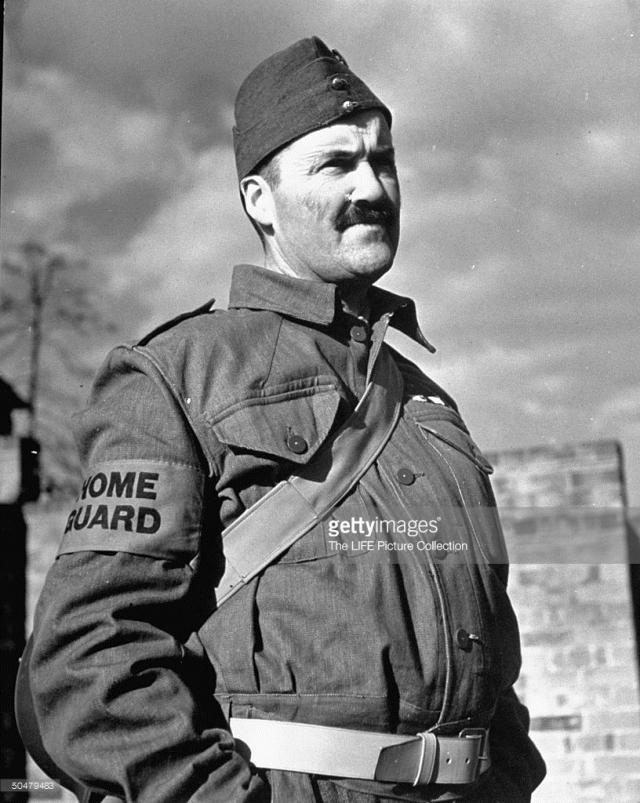 Eric Kennington in his Home Gurad uniform