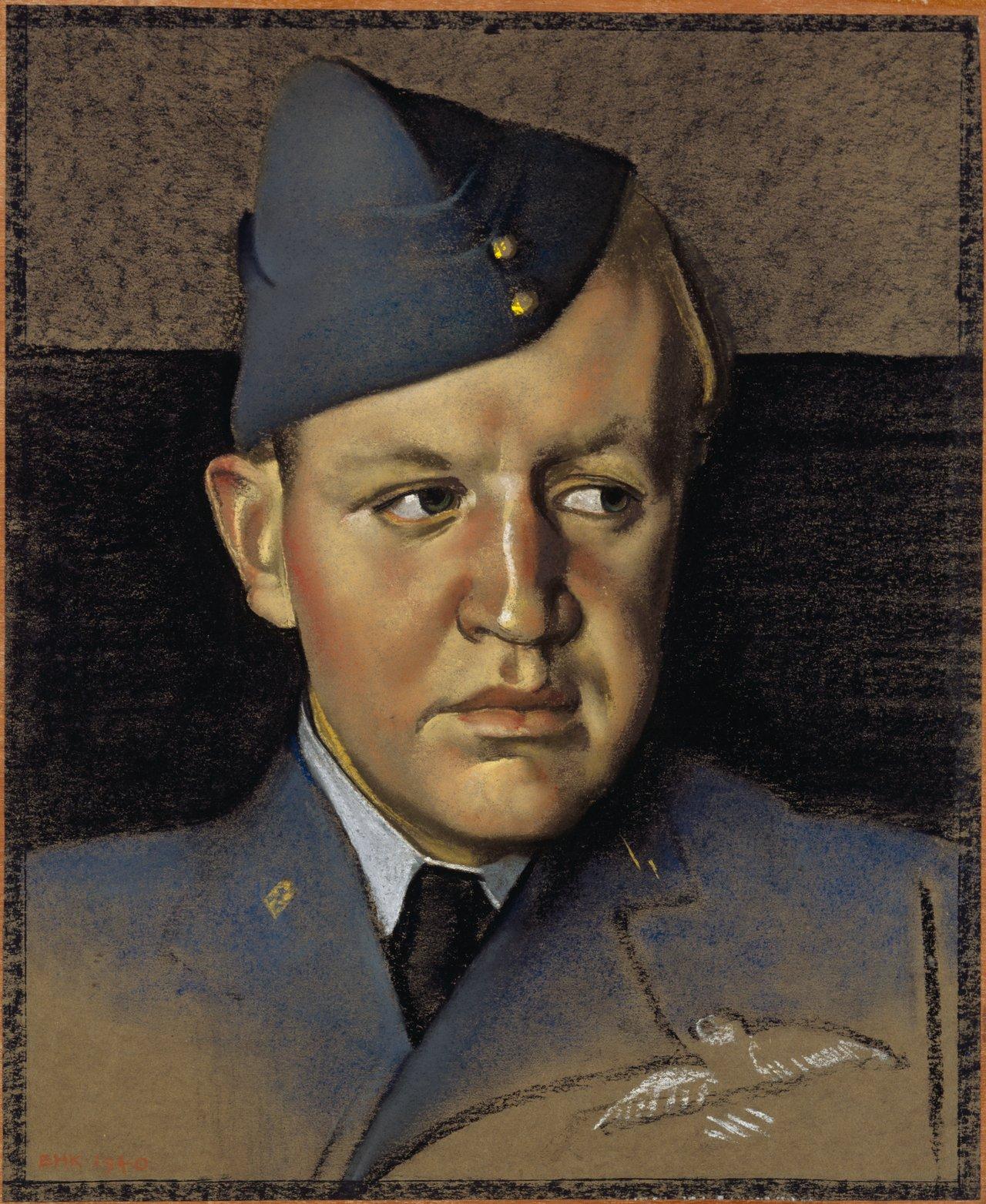 Flight Lieutenant Lloyd Watt Coleman, DFC, by Eric Kennington (1940)