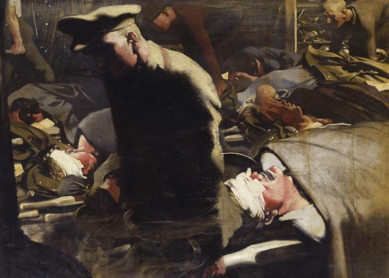 Gassed and Wounded by Eric Kennington (1917)
