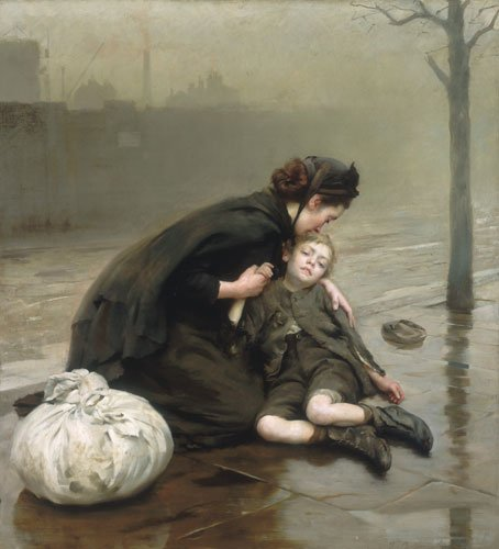 Homeless by Thomas Kennington (1890)