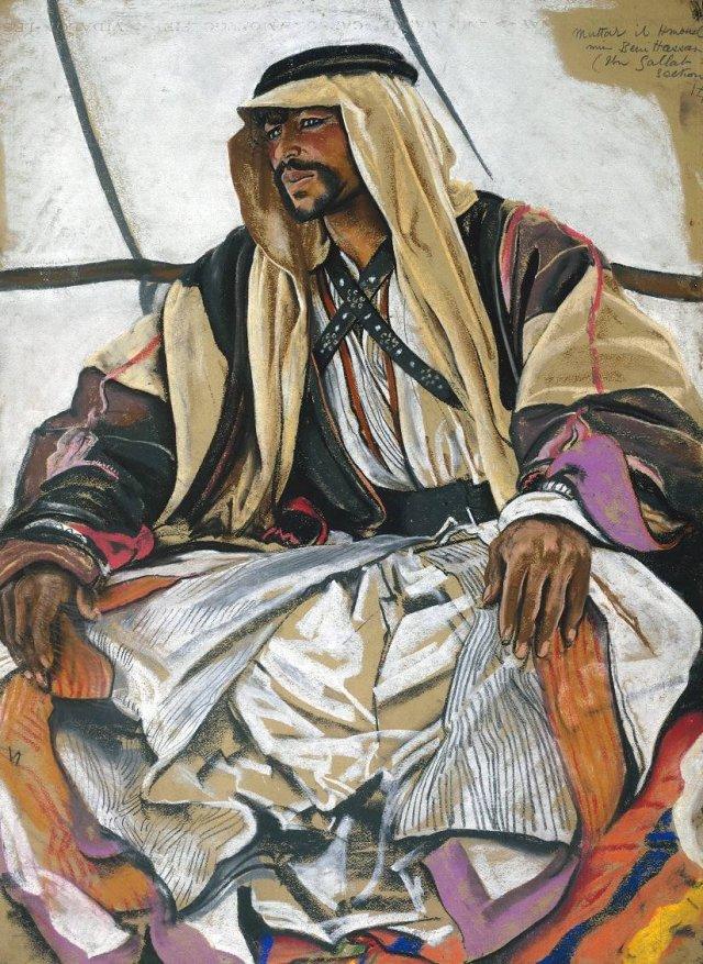 Muttar il Hamoud min Beni Hassan by Eric Kennington (1920)