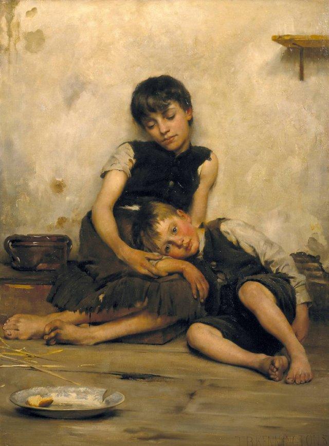 Orphans by Thomas Kennington (1885)
