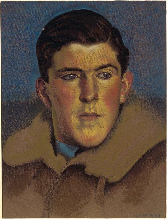 Pilot Officer M J Herrick, DFC, by Eric Kennington (1941)