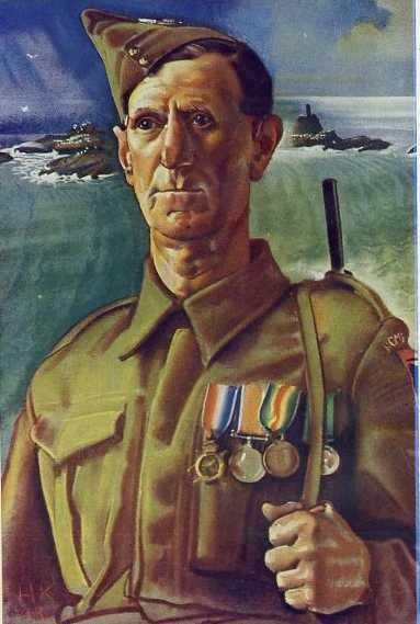 Sergeant Bluett, Cornwall Home Guard by Eric Kennington