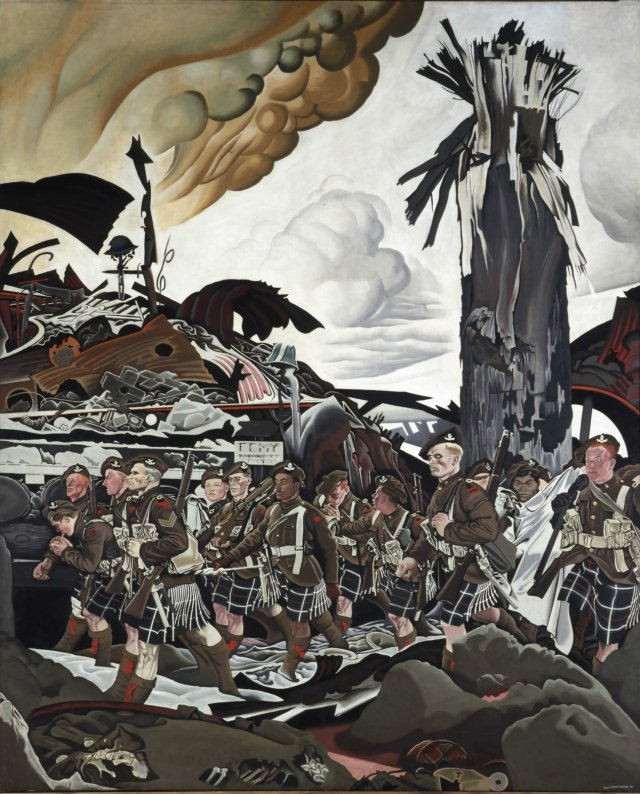 """The Conquerors by Eric Kennington (1918) (Originally known as """"The Victims"""")"""