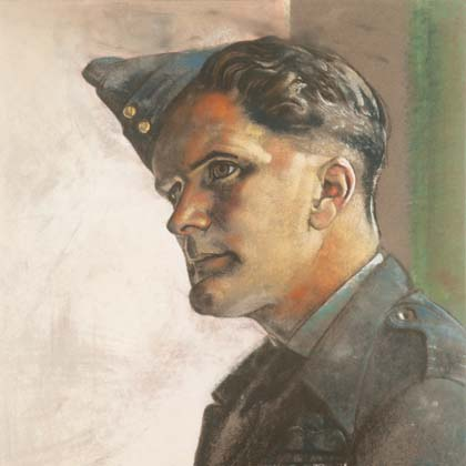 Wing Commander Geoffrey William Tuttle OBE DFC by Eric Kennington (September 1941)