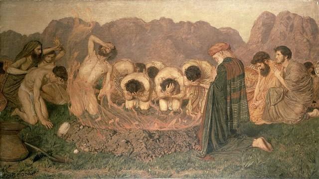 Elijah's Sacrifice by Albert Moore (1863)